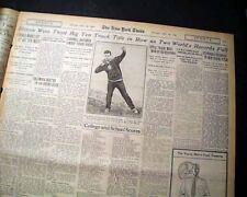 University of ILLINOIS FIGHTING ILLINI Track and Field Champions 1929 Newspaper