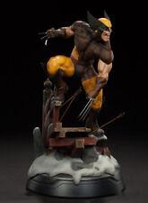 Marvel Comics Gallery Wolverine Logan X-Men Brown 26cm Scene Figure Statue Model