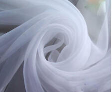 """120"""" Wide (10ft Wide) x 120 Yards Roll - White Sheer Voile Chiffon Fabric"""