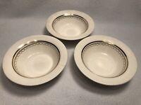 Set of 3 Vintage VICTORY by Salem China Co. 23 Carat Gold Salad/Dessert Bowls