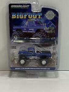 1974 Ford F250 Monster Truck Bigfoot 1979 Blue 1:64 Greenlight 29934