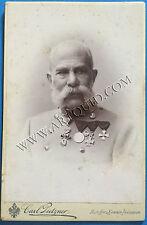 Kabinettfoto KAISER FRANZ JOSEPH I. VON ÖSTERREICH, Empereur d'Austriche 16x11cm
