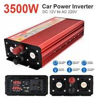 3500W Peak WATT Car LED Power Inverter DC 12V to AC 220V Charger Converter W/USB