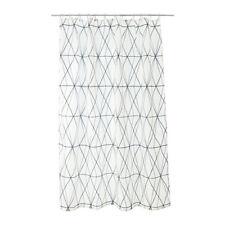 FOLJAREN 71x71 Shower Curtain White Black NEW FREE Shipping