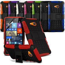 Shockproof Dual Layer Heavy Duty Case Cover Stand & LCD Film For Various Phones