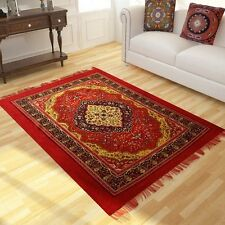 S.A. Collections Mahroon Polyester Traditional Carpet 5x7 Feet