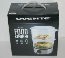 New 2 Tier Ovente Food Steamer 5 Quart 60 Minute Timer