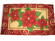 3x5 Poinsettias Flag Poinsettia Christmas Holidays Poinsettas Poinsetta 3'x5'