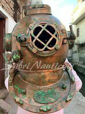 Copper Antique Boston Scuba Diving Divers Helmet Morse Marine Navy Sea Boston