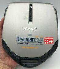 Rare! Sony Discman D-E301 Portable Cd Player Digital Mega Bass Tested Working
