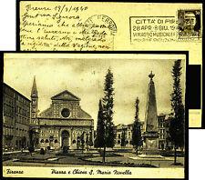 Firenze-Florence-Piazza Chiesa Santa Maria Novella-TIMBRO Maggio Musicale 1940