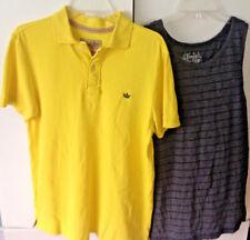 Teens  shirts: Polo Yellow and Striped Grey Shirts  , both Sz M