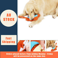 Large Plush Squeaky Chew Bite Interactive Dog Toy Treat Dispenser 5 Squeakers