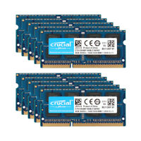 Lot Crucial 16GB/8GB/4GB DDR3L 1600MHz PC3L-12800S Laptop Memory RAM SO-DIMM @ES