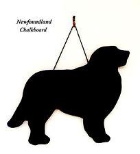 """Newfoundland Dog Gift -Unique 12"""" Handmade Dog Breed shaped Chalkboard"""