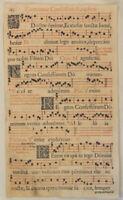 MUSIK Noten NEUMEN rot / schwarz RIESEN Notenblatt um 1690 Mittelalter CHORAL