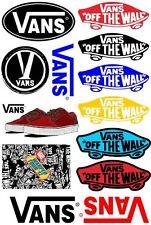 A5 Size Vans Logo Skateboard Luggage Laptop Bike Phone Vinyl Stickers S0671