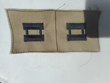 US Army Captain Rank Insignia Cloth Embroidered Tan and Black New Surplus