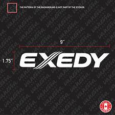 2X  EXEDY RACING CLUTCH logo sticker vinyl decal