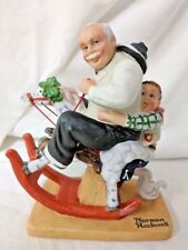 Gramps At The Reins Norman Rockwell Danbury Mint Figurine Rocking Horse