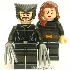 BM149 II Lego Custom X-Men Days of Future Past - Wolverine & Rogue Minifigs NEW
