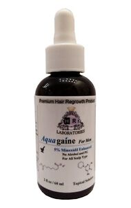 Aquagaine for Men: 5% Minoxidil Enhanced No Alcohol/No PG for hair loss/regrowth
