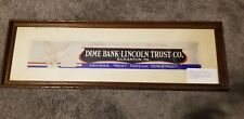 DIME BANK LINCOLN TRUST EAGLE 1 OF 1 SCRANTON PA ORIGINAL DRAWN COLOR AD PROOF