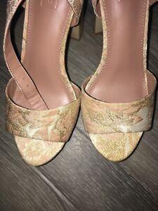 Ladies Topshop Top Shop  High Heeled Shoes - Size 5 EU 38 Buckles Floral