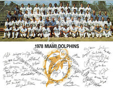 1978 MIAMI DOLPHINS NFL FOOTBALL TEAM 8X10 PHOTO
