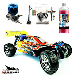 RC Cars Buggy Nitro 2-speed 4WD HSP Backwash Radio Control + Tools and Fuel RTR