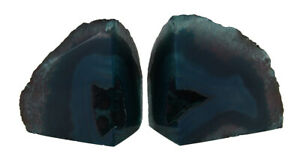 Zeckos Small Polished Green Brazilian Agate Geode Bookends Under 4 Pounds