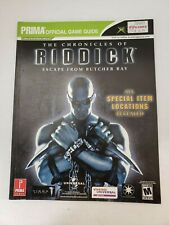 The Chronicles of Riddick Escape From Butcher Bay X-Box Strategy Guide Prima