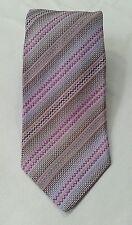 MISSONI Mens Neck Tie Lavender Zip Zag Diagonal Stripe 100% Silk Italy