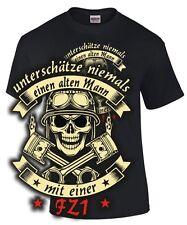 Biker Spruch T-Shirt ALTER MANN MIT EINER FZ1 Motorrad Tuning Spruch Zubehör