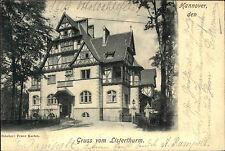 Hannover Niedersachsen 1901 Gruss vom Listerthurm Gebäude Turm alte Postkarte