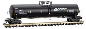 Micro-Trains MTL N-Scale 56ft General Service Tank Car BNSF Black/White #880238