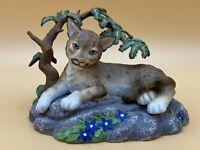 Vintage 1996 Lenox Porcelain Figurine, Mountain Daydreams, Cougar