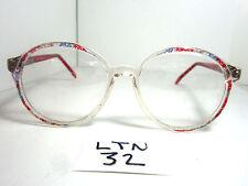 Nos 1980s Dolland & Aitchison Eyeglass Frame Po19 Angela Red Round (Ltn-32)