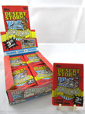 "1991 Topps Desert Storm Sealed Vintage ""Homecoming"" 3rd Series Military Wax Pack"
