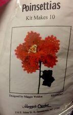 Maggies Crochet * Poinsettias * Kit Pattern And Supplies Makes 10 Crochet Flower