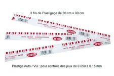 3 BRINS DE 30 cm de Plastigage ROUGE - pour les jeux de 0.050 à 0.150mm