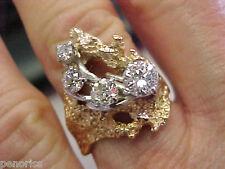 Gold size 9 Make Offer Large Estate Cocktail Diamond Ring 14k