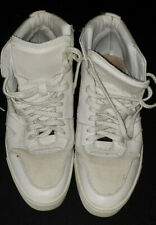 BURBERRY Wheatfield Mens Optic White High Top Sneakers Shoes Sz 11 White Leather