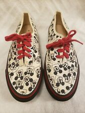 Vans Womens 7 Walt Disney Company Authentic Vintage 1990's Mickey Mouse Shoes