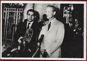 1990s Original Photo Egypt Hosni Mubarak Press Conference Cairo US Middle East