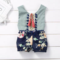 Kids Toddler Newborn Baby Girls Romper Jumpsuit Bodysuit Clothes Outfit 0-4Y CO