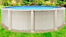 "24'x54"" Saltwater 8000 Round Above Ground Salt Swimming Pool with 25 Gauge Liner"
