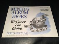 Minkus United States Plate Block Stamp Album Supplement Pages- 1993