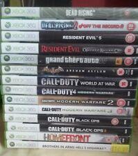Xbox 360 Game bundle job lot, COD, Black ops GTA 4, RE -Evil, Dead rising + More