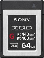 Genuine Sony - G-Series 64GB XQD Memory Card - Black/Silver (QD-G64E) 400MB/s